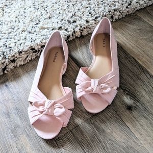 TORRID Soft Pink Bow D'Orsay Flat Size 13W